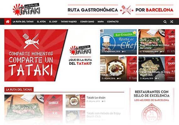 tataki barcelona, ruta gastronómica