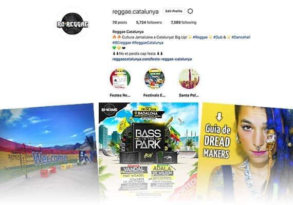 xarxes socials reggae barcelona